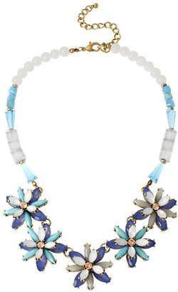 JCPenney BLEU NYC Bleu Blue Stone Flower Statement Necklace