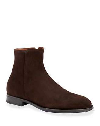 Aquatalia Men's Daniel Waterproof Suede Side-Zip Ankle Boots