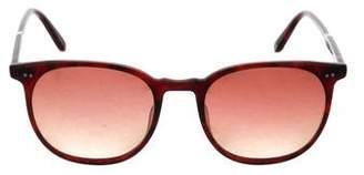 Garrett Leight Tortoiseshell Acetate Round Sunglasses