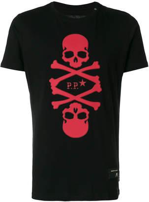 Philipp Plein skull patch T-shirt