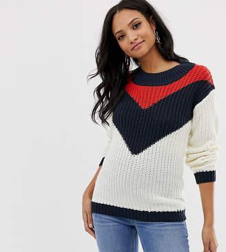 Mama Licious Mama.Licious Mamalicious maternity chevron knitted jumper