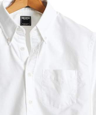 Todd Snyder Solid Oxford Shirt in White