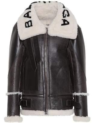 Balenciaga The Bombardier shearling jacket
