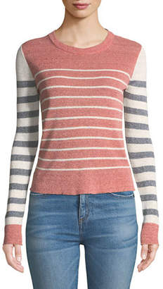 Veronica Beard Brae Striped Crewneck Sweater
