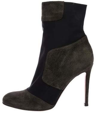 Gianvito Rossi Suede Round-Toe Ankle Boots