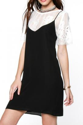 Everly Layered Lace Tee Dress $54 thestylecure.com