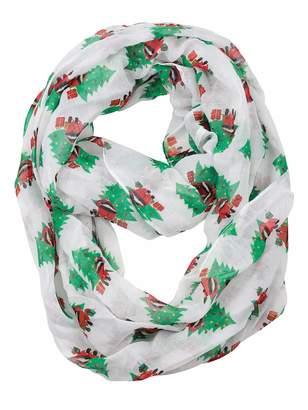 D&Y Christmas Theme Sheer Loop Infinity Scarf