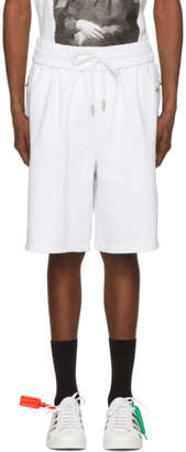 Off-White White Basic Logo Lounge Shorts