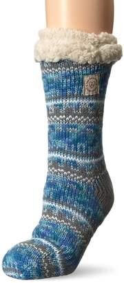 Dearfoams Women's Fancy Fairisle Blizzard Sock RD2002W Slipper