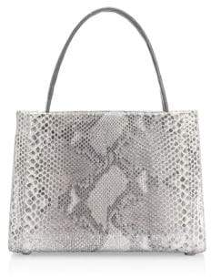 Nancy Gonzalez Medium Wallis Python Top Handle Bag