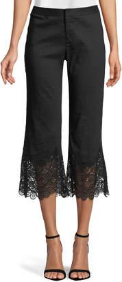 Kobi Halperin Kelly Crochet-Hem Cropped Pants