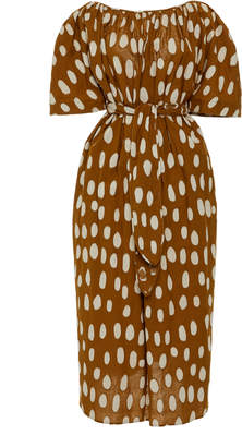Mara Hoffman Aliz Polka Dot Cotton Midi Dress Size: XXS
