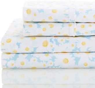 Melange Home 400 Thread Count Daisies Sheet Set - Blue/Multi