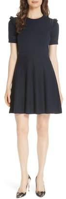 Kate Spade ruffle cotton cashmere sweater dress