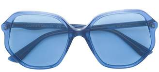 Gucci clear oversized glasses