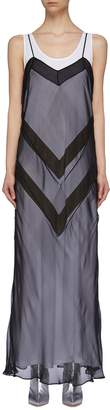 Maison Margiela Chevron stripe layered dress