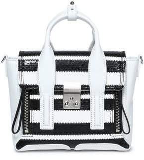 3.1 Phillip Lim Striped Elaphe And Leather Shoulder Bag