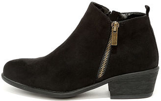 Wander My Way Black Suede Ankle Booties $34 thestylecure.com