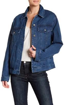Lush Back Lace Up Denim Jacket