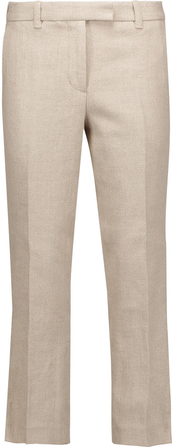 3.1 Phillip Lim 3.1 Phillip Lim Cropped linen and cotton-blend slim-leg pants
