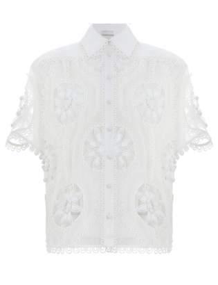 Zimmermann Whitewave Doily Shirt
