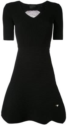 Philipp Plein ribbed skirt skater dress