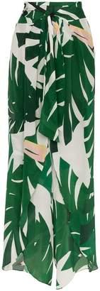 Adriana Degreas Geometric Foliage Pareo Trousers