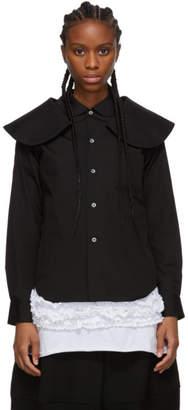 Comme des Garcons Black Oversized Double Collar Shirt