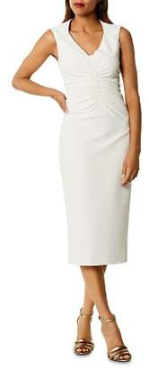 Karen Millen Ruched Cutout Midi Dress