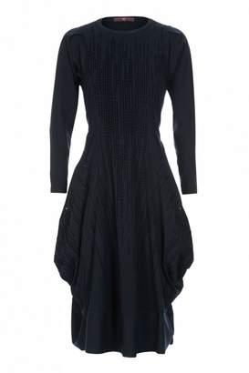 High Jessy Velvet Stripe Jersey Dress - 10