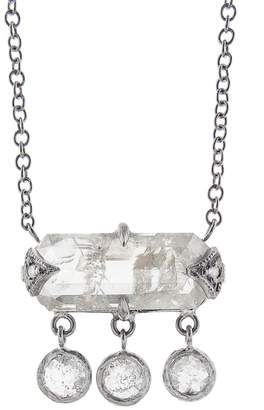 Cathy Waterman Rose Cut Black and White Diamond Necklace - Platinum