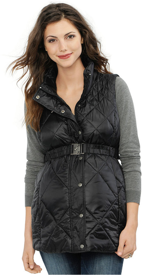 A Pea In The PodA Pea in the Pod Maternity Quilted Puffer Vest