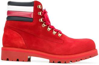 Tommy Hilfiger lace-up construction boots