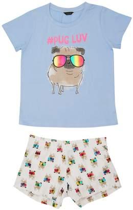 M&Co Teens' pug pyjamas