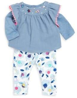 Catimini Baby Girl's Top and Printed Leggings Set