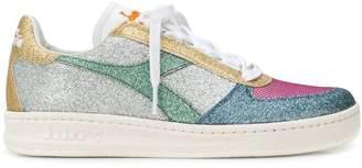 Diadora glitter colour-block sneakers