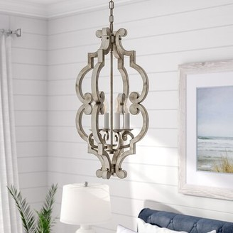 Beachcrest Home Dov 4-Light Lantern Pendant