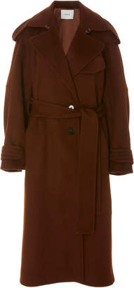 Vince Oversized Belted Wool-Blend Trench Coat