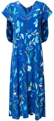 Agnona short-sleeve floral dress