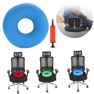 HURRISE Inflatable Anti Haemorrhoids Cushion,New Round Chair Pad Hip Support Hemorrhoid Seat Cushion With Pump,Blue