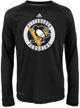 adidas Pittsburgh Penguins Practice Graphic Long Sleeve T-Shirt, Big Boys (8-20)
