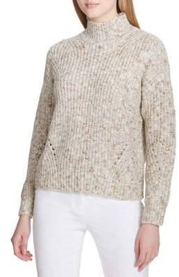 Calvin Klein Mockneck Dropped Shoulder Sweater