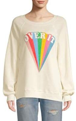 Wildfox Couture Over It Rainbow Graphic Sweatshirt