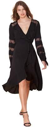 Hale Bob Cecile Crepe Woven Wrap Dress