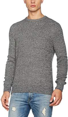 New Look Men's Tuck Stitch Crew Jumper,(Manufacturer Size: 52)