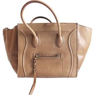Celine Luggage Phantom Camel Leather Handbag