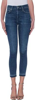 Citizens of Humanity Sculpt Rocket Crop Skinny Jean With Undone Hem
