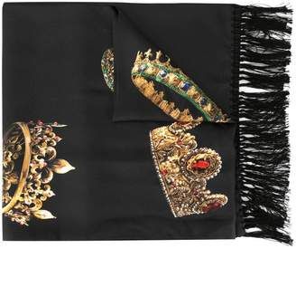 Dolce & Gabbana crown print scarf