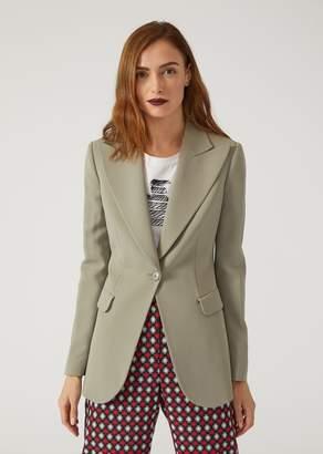 Emporio Armani Crepe Jacket With Lapels