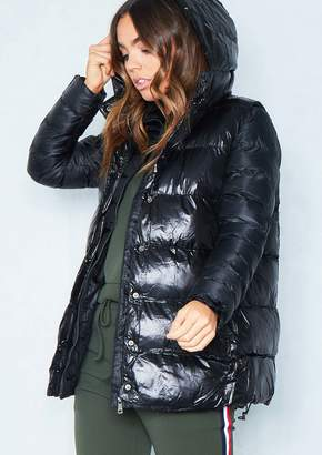 fb714adf8487 Missy Empire Missyempire Chloe Black 2-In-1 Gilet Puffer Coat